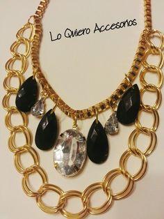Collar dorado y negro! By LO QUIERO ACCESORIOS