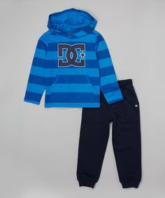This Royal Stripe Hoodie & Pants - Toddler & Boys is perfect! #zulilyfinds