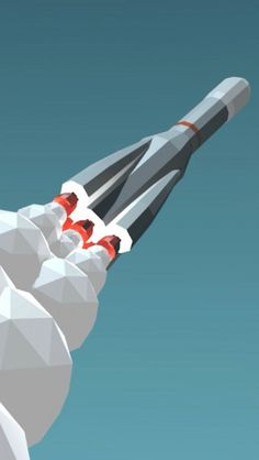 Low Poly Rocket http://theiphonewalls.com/low-poly-rocket/ #Low Poly #Rocket