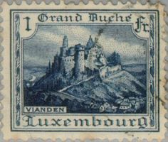 Sello: Vianden Castle (Luxemburgo) (Landscapes) Mi:LU 163,Yt:LU 157