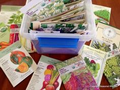 Each year, I end up with many more vegetable seeds than I could possible plant in my garden. So, I give them to friends. Or, I save them for the next growing season ... or, the next growing season ...