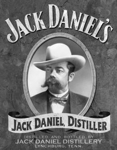 Jack Daniel, the founder of the famous Whiskey brand Jack Daniel's, had a giant moustache. And Jack Daniel's has a new whiskey flavour, one with honey. Coca Cola Vintage, Vintage Tin Signs, Vintage Tins, Vintage Labels, Vintage Posters, Retro Vintage, Antique Signs, Antique Metal, Vintage Decor