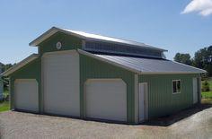 pole building design | Monitor Roof Buildings - Monitor Pole Barn Designs