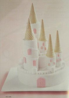 Cake Castle with marshmallows