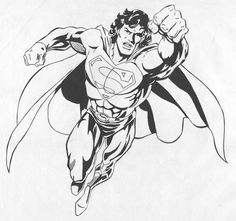 M. Roger Arte: Super Man - Ink
