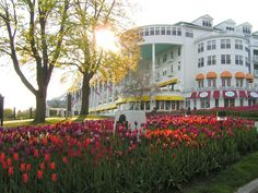 Mackinac Island on Lake Huron.  It's only accessible by ferry, boat, or small airplane.....intrigued?