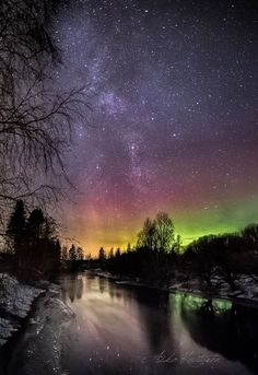 Northen lights Finland by Asko Kuittinen