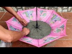 Idea making a waterfall from umbrella - How to make a fish tank and a waterfall - Cement craft ideas - Idea making a waterfall from umbrella – How to make a fish tank and a waterfall – Cement craft - Concrete Crafts, Concrete Art, Concrete Projects, Concrete Garden, Mosaic Projects, Diy Home Crafts, Garden Crafts, Diy Crafts Hacks, Cement Work