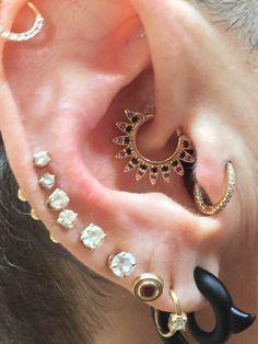 BVLA - black diamonds and amethyst Daith Piercing, Piercing Tattoo, Body Piercing, Bvla Jewelry, Jewelery, Ring Necklace, Earrings, Cute Piercings, Amethyst