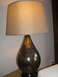 Pier One Mosaic Glass Lamp