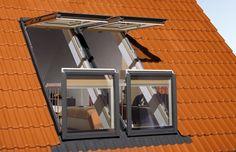 Fakro's innovative balcony windows transform any skylight into an airy balcony.