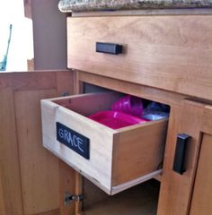 Ana White   Build A Wood Pullout Cabinet Drawer Organizer   Free And Easy  DIY Project