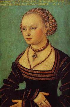 Lucas Cranach the Elder. Portrait of Margarethe von Ponickau.