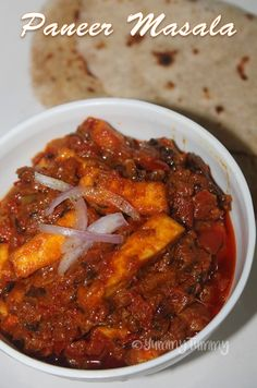 This is fast to make and taste yummy with chapati or poori or bhaturas.Its been a while since i shared any paneer recipes, so i decided. Indian Paneer Recipes, Paneer Masala Recipe, Butter Masala Recipe, Indian Food Recipes, Recipes With Paneer, Paneer Curry Recipes, Punjabi Recipes, Biryani Recipe, Paneer Dishes