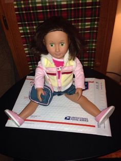 Battat Our Generation Doll/ PO/ Great/ Outfit/ Short Brown Hair-green Eyes #Dolls