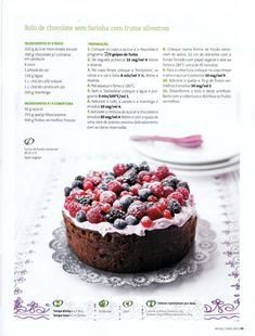 Revista bimby 2011.07 n08 Sweet Recipes, Cake Recipes, Dessert Recipes, Desserts, Healthy Cake, Healthy Baking, Chocolate Paleo, I Companion, Good Food