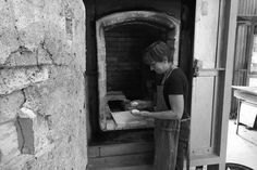"Vivien Lightfoot, ceramic studio holder cleaning out the Morris 90 kiln after a successful firing of works for her solo exhibition ""Echoes in Time', Belconnen Arts Centre 16 May - 7 June 2015.  The works were fired in Strathnairn Arts' Morris 90 kiln, 19-23 February 2015 February 2015, June, Ceramic Studio, May 7th, Centre, Studios, Cleaning, Pottery Studio, Home Cleaning"