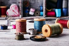 Sewing kit and accessories by MLunov on @creativemarket