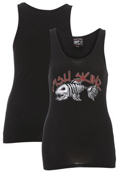 Fish Skinz - Throwback Tank T-Shirt with 100% ringspun heavyweight cotton tank wide straps and comfortable.