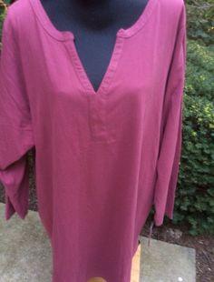 Roamans Plus Siz Tops for Women Tunic Shirt 5X Dusty Pink   eBay