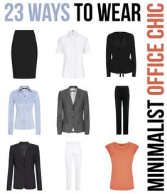 23 Ways to Wear - Minimalist Office Chic Wardrobe by Not Dressed As Lamb, via Flickr
