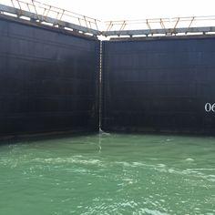 Visita esclusas del #canaldepanamá de la zona del Atlántico, la esclusa de Gatún, al lado de la ciudad de Colón