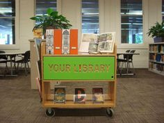 Our Pop-Up Library Cart!