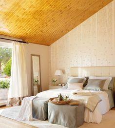 Dormitorios románticos en colores cálidos