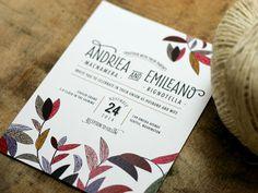 Wildflower Wedding Invitation #LoveLetterpress