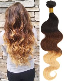 DE Local Stylish 1/3Bundles Ombre Human Hair Extension Body Wave 100g/Bundles