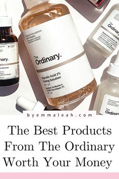 Whether you are just starting out in the skincare department or you are a skincare junkie, The Ordinary skincare is a brand you need to try! I have been using The Ordinary skincare for over two years now and have absolutely loved their products. Click through to discover the best 6 products from The Ordinary skincare worth your money (including hylaronic acid, niacinamide, glycolic acid, peeling solution, retinoid and squalane oil). #theordinary #theordinaryskincare #theordinaryskincareguide The Ordinary Skincare Guide, The Ordinary Products, Beauty Routine Tips, Beauty Hacks, Best Skincare Products, Best Face Products, Organic Skin Care, Natural Skin Care, Clear Skin Tips