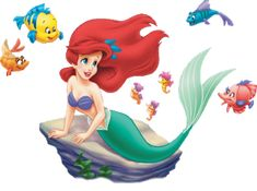 Free Litle Mermaid and Ariel Disney Clipart and Disney Animated Gifs - Disney Graphic Characters Brought to You by Triplets And Us Mermaid Disney, Disney Little Mermaids, Mermaid Princess, Ariel The Little Mermaid, Little Mermaid Clipart, Ariel Mermaid, Disney Pixar, Disney Animation, Disney Cartoons