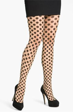 Wolford 'Dolly' Polka Dot Tights | Nordstrom    These look a little theatrical with the platforms. I will do a pointy toe patent kitten heel.