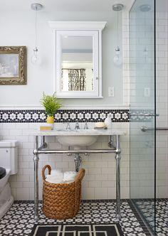 Small Bathroom Backsplash Ideas Best Of 20 Pedestal Sink Backsplash Ideas to Ble. Small Bathroom B Diy Bathroom, Classic Bathroom, Vintage Bathroom, Vintage Bathroom Tile, Bathroom Backsplash, Bathrooms Remodel, Bathroom Design, Beautiful Bathrooms, Bathroom Towel Storage