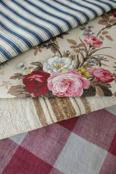 Cotton Linen Square Fashion Blue Floral Toile Throw Pillowcase - Home Style Corner
