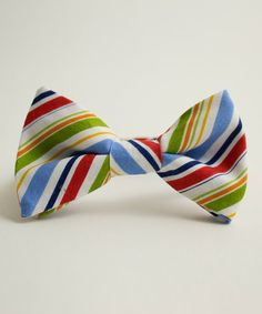 Blue & Green Summer Bow Tie by Trendy Ties on #zulily
