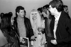 Reed chats with his wife Sylvia, Iggy Pop, Debbie Harry, and Chris Stein during a 1982 party for Blondie's book, Making Tracks: The Rise of Blondie. | 25 Classic Photos Of Lou Reed You Have To See