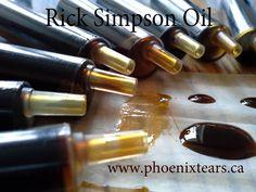 Aceite de marihuana de Rick Simpson, listo para el uso