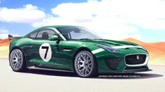 Jaguar should take the F-type coupe racing. We imagine the GT3 version of the upcoming coupe.