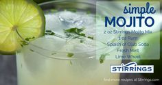 Sometime's all you need is a Mojito, sun, and a little salsa music! Take a trip to Havana with this Stirrings Simple Mojito cocktail! off all Stirrings on our website until code: Mojito Mix, Mojito Cocktail, Low Alcohol Drinks, Alcoholic Drinks, Fresh Mint, Fresh Fruit, Cocktails Made With Gin, Allure Flooring, Salsa Music