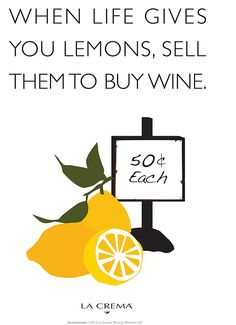 La Crema Poster Series #4: The Thing About Lemons