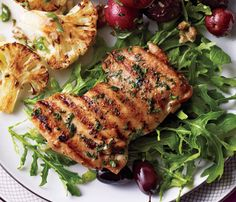 Stress-Free Dinner Party Recipes: Herbed Citrus Chicken. The chicken marinates overnight, so when guests arrive, it's just grill, plate and eat. #SelfMagazine
