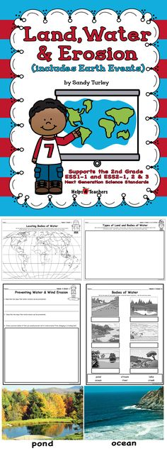 $ AWESOME! 11 activities to help support your teaching of the 2nd grade Next Generation Science Standards ESS1 and ESS 2. Also includes 20+ full color photographs to enhance lessons and help with vocabulary.
