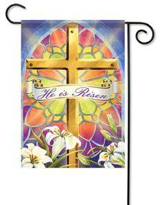 Easter Sunrise Garden Flag - x - Flag Trends - 2 Sided Message House Flag Pole, House Flags, Sunrise Home, Easter Garden, Yard Flags, Easter Cross, Prayer Flags, Spring Theme, Design Show