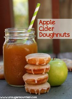Baked Apple Cider Doughnut Recipe - On Sugar Mountain