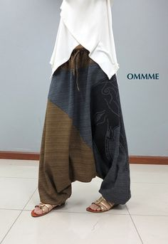 Elephant harem pants by Ommme on Etsy
