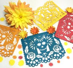 This beautiful papel picado Day of the Dead banner is the perfect addition to your Dia de los Muertos altar and celebrations. Add a special touch to