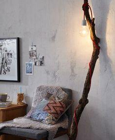 Exposed bulb and tree limb
