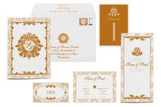 Goldene Hochzeitskarten wirken so edel | Design: Paper & Soul
