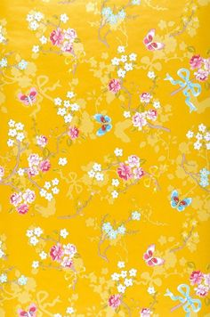 Benina | Yellow wallpaper | Additional Wallpapers | Wallpaper from the 70s